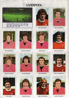 English Leagues the Liverpool Aston Villa Division One 1976 1977 Liverpool Fc, Time Do Liverpool, Liverpool Legends, Liverpool Players, Liverpool Football Club, Liverpool Poster, Liverpool History, Football Icon, Best Football Team