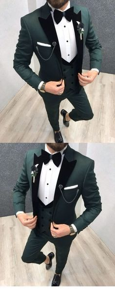 suits men velvet Velvet Lapel Dark Olive Green Wedding Tuxedo /Suits For Goomsmen 3 Pieces Green Suit Men, Black Suit Men, Olive Green Suit, Wedding Dresses Men Indian, Wedding Dress Men, Men's Tuxedo Wedding, Sherwani For Men Wedding, Prom Suits For Men, Best Suits For Men