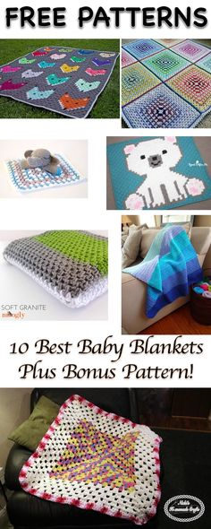 10 Best Baby Blanket Patterns - Collection by Nicki's Homemade Crafts
