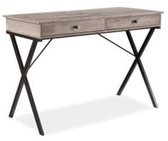 I found a Rustic 2-Drawer Writing Desk at Big Lots for less. Find more at biglots.com!
