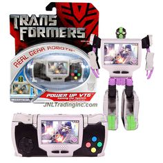 "Hasbro Transformers 1st Movie Real Gear Robots Series 5"" Tall Figure - Decepticon POWER UP VT6 ""Gaming the System"" (Alt. Mode: Portable Video Game)"