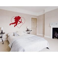 Style and Apply Love Cupid Wall Decal (16in x 13in )