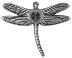 Solid Brass Summer Dragonfly Doorbell in Black traditional-doorbells-and-chimes