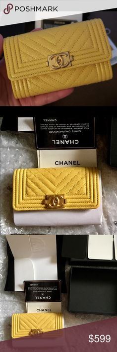 fbb8e5244481 NWT Chanel Boy card case holder wallet ❌ NO TRADE ❌ ❌FIRM PRICE ❌ · Bag TagFull  SetChanel ...