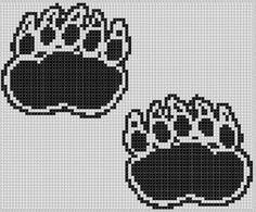 Bear Claws Cross Stitch Pattern pattern on Craftsy.com
