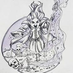 Ведьма некромант #ink #inktober2018 @ochibrochi  #willborg #willborgart #31witches