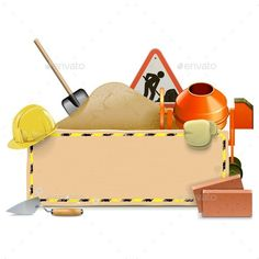 Construction Board with Concrete Mixer by dashadima Folder include Ai and JPG files. Ai files can edit in Adobe Illustrator and CS. Engineering Tools, Construction Safety, Illustrator Cs5, Concrete Mixers, Construction Birthday Parties, Baby Mickey, Art N Craft, Diy Cards, Birthday Cards