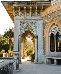 10 places to make you want to visit Sintra Portugal Park and Palace of Monserrate detail window Sintra Portugal, Spain And Portugal, Portugal Travel, Beautiful Architecture, Beautiful Buildings, Architecture Details, Gothic Architecture, Ancient Architecture, Mamounia Marrakech