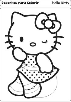 Hello Kitty Coloring Pages Book
