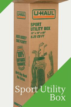 Store or move your golf clubs, tents, sports equipment or even plants in this sturdy box!  So hard to find a box that fits these items.  Buy one here! I Storage Ideas