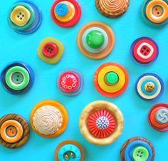 Vintage button magnets