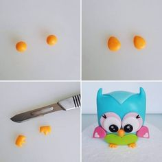 This is an Owl cake topper tutorial I made recently. Owl Cake Toppers, Fondant Cake Toppers, Birthday Cake Toppers, Birthday Cakes, Easy Fondant Cupcakes, Owl Cupcakes, Ladybug Cakes, Bird Cakes, Cake Topper Tutorial