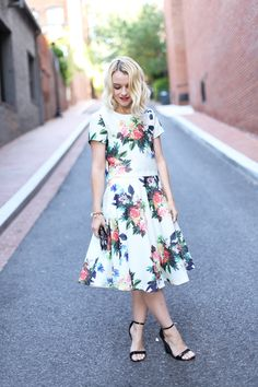 Poor Little It Girl - Floral Crop Top and Skirt Set - @poorlilitgirl