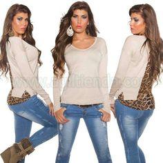 #Exclusivo #jersey #mangalarga @mujer #tejido #punto #elastido #cuelloredondo semi #ceñido con #espalda #abierta de #leopardo #colores #sofisticados para #complementar con todo tu @armario y #lucir #fabulosas todo el #Otoño #invierno #2015 y #2016. Encuentralo en #Jerseys y #Camisetas de @agiltienda.es #online #shop http://www.agiltienda.com/es/home/2273-jersey-con-espalda-abierta-con-leopardo-8400227388943.html