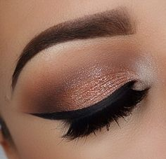 Cat eyeliner & lovely shadows #makeup