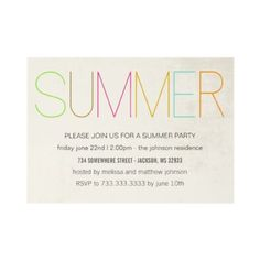 #Summer #Party #Invitations