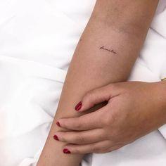 Classy Tattoos, Dainty Tattoos, Pretty Tattoos, Cute Tattoos, Fine Line Tattoos, Word Tattoos, Mini Tattoos, Body Art Tattoos, Tatoos