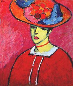 Schokko with Wide Brimmed Hat, 1910, Jawlensky