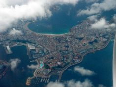 A Coruña  desde el aire #Galicia #ACoruña #SienteGalicia