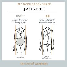 In this section, we explore how to dress the rectangle body shape to achieve a balanced silhouette. Make sure to check all body shapes that apply to you. Hourglass Body Shape, Apple Body Shapes, Build A Wardrobe, Capsule Wardrobe, Athletic Body, Square Body, Rectangle Shape, Body Types, Concept