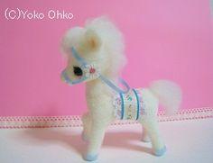 Needle felted ~ cute little pony by Yoko Oko
