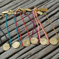 Nylon Vintage Coin Bracelet by Leeloo Bird, available exclusively at Bali Platform #jewelry#friendship#barcelet