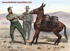 G. Moreno, El mulo y el legionario.