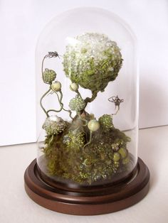 Thaw, Amy Gross, mixed media and glass dome, 8 x 5 inches, free-standing