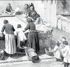 CARRER AIGUAFREDA els safareigs i les bugaderes d'Horta - Barcelona