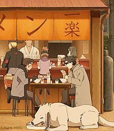 Awww :) Shino, Kiba and Akamaru