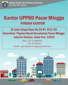 Untuk pelayanan yang lebih baik lagi maka UPPRD Pasar Minggu akan pindah dari Kantor Camat Pasar Minggu di Jl. Raya Ragunan nomor 16 Jatipadang ke Jl. Siaga Nomor 25 Pejaten Barat