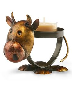 Look at this #zulilyfind! Cow Metal Tealight Holder #zulilyfinds