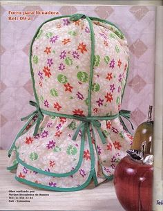 Revista de Lencería No.4 - Blog de Santa clauss Soft Furnishings, Pot Holders, Decoupage, Apron, Kitchen Decor, Sewing Projects, Sewing Patterns, Arts And Crafts, Quilts