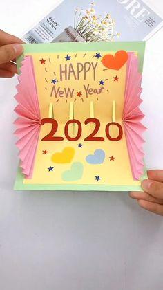 Creative Birthday Cards, Handmade Birthday Cards, Happy Birthday Cards, Card Birthday, Happy Birthday Greeting Cards, Birthday Card For Grandma, Birthday Cards For Kids, Creative Cards, New Year Cards Handmade
