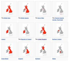 The difference between the British Isle, British Islands, and the United Kingdom