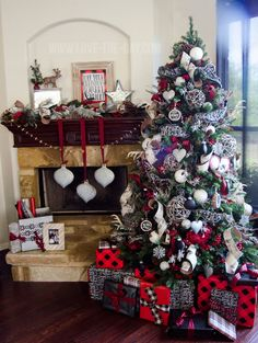The Festival of Trees is where Christmas tree decor is at its finest. Here are a few of my favorite Christmas tree decor themes! Flocked Christmas Trees, Magical Christmas, Merry Little Christmas, Plaid Christmas, Country Christmas, Beautiful Christmas, Christmas Home, Christmas Tree Decorations, Christmas Holidays