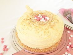 Vanilla Easter Nest Cake - Chantell Clark Vanilla Cake, Lifestyle Blog, Nest, Easter, Sugar, Kitchen, Desserts, Beauty, Food