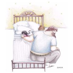 The daddy-daughter bond is beautiful and real. / Snezhana Soosh, a Ukrainian artist, recently created some ridiculously heartwarming illustrations of the bond between a dad and his daughter. Father And Daughter Love, Father Daughter Relationship, Sweet Pictures, Dads Little Girl, Daddys Girl, Banksy, Watercolor Illustration, Family Illustration, How To Fall Asleep