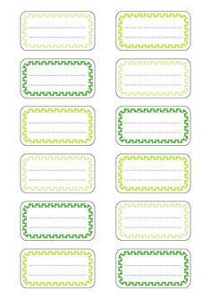 étiquettes pour cahier et livres d'école en PDF format A4 à imprimer ( print)…