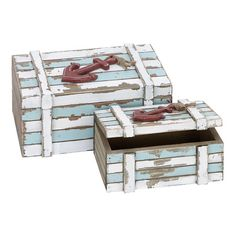 Found it at Wayfair - Nautical 2 Piece Maritime Wood Box Set...$19...on sale today
