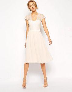 ASOS | ASOS Scallop Lace Midi Dress at ASOS