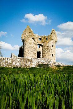 Monea Castle, Co. Beginning of my Scotch-Irish roots. Londonderry, Ireland Travel, Ireland Uk, Cork Ireland, Castle Ruins, Medieval Castle, Castles In Ireland, Emerald Isle, Abandoned Castles
