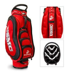 Visit us online now and find the Marine Corps Golf Bag you have been looking for! Choose Golf HQ for your USMC Golf Bag so you can show your pride! Us Marines, Taylormade, Marine Corps, Usmc, Golf Bags, Team Logo, Cart, Freedom, Happy