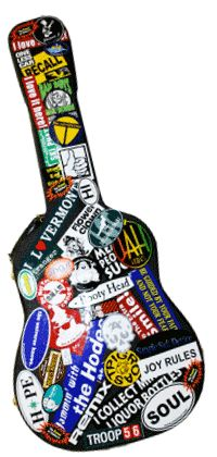 Decoupage a guitar case with maps i want to do this with - Michael in the bathroom sheet music ...
