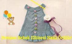 Baharlık Şık Prenses Bebek Elbise Örgü Modeli ve Anlatımı Knit Baby Dress, Knitting Videos, Baby Born, Pom Poms, Baby Knitting, Crafts To Make, American Girl, Baby Kids, Crochet Patterns