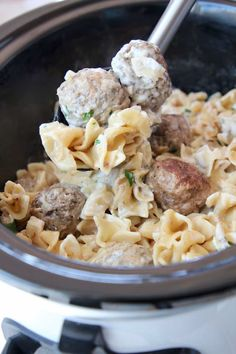 Seriously AMAZING Swedish Meatballs are so easy to make in a slow cooker! This recipe was passed down from my mother in law & the sauce is to-die-for! The combination of ground pork and beef is key to making the best homemade meatballs. And the egg noodles can be cooked in the sauce, right in … Swedish Meatballs Crockpot, Crock Pot Meatballs, Pork Recipes, Cooker Recipes, Real Food Recipes, Slow Cooked Beef, Slow Cooker Pork, Pulled Pork Sliders