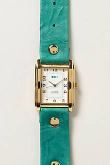 Turquoise Leather Watch - Pomeriggio Watch by La Mer, as shown in Anthropologie.