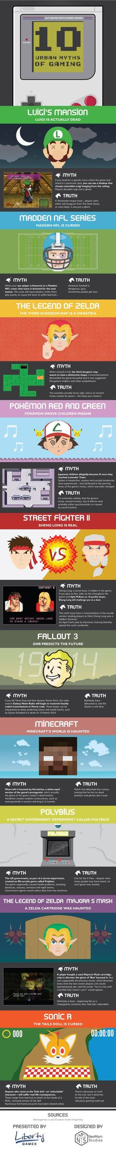 10 Urban Myths of Gaming   #infographic #Games #Myths