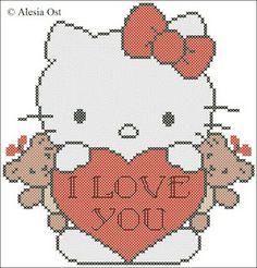 Free cross-stitch patterns, Hello Kitty.