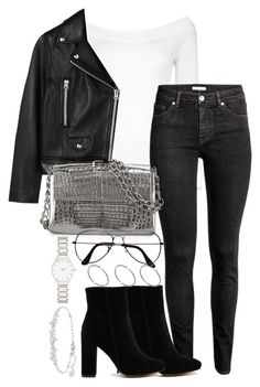 """""""Untitled #3002"""" by theeuropeancloset on Polyvore featuring Boohoo, H&M, Public Desire, Acne Studios, Nancy Gonzalez, ZeroUV, ASOS, Forever New and Swarovski"""